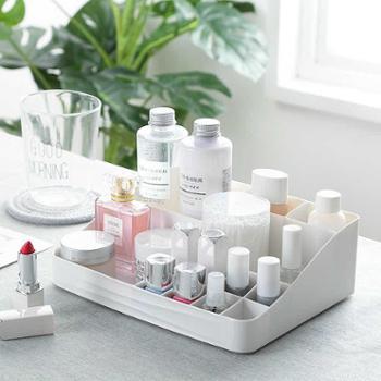 塑料化妆品收纳盒 梳妆台整理护肤品桌面收纳盒 美妆个护办公文具收纳盒
