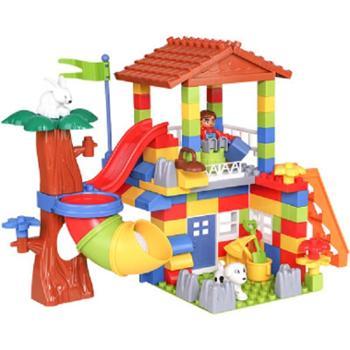 北国e家儿童积木玩具套装大颗粒拼装积木百变乐园乘警玩具益智玩具亲子互动安全环保材质