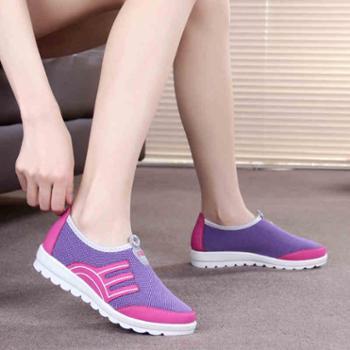 017新款老北京布鞋女鞋休闲鞋透气平底防滑单鞋运动鞋软底妈妈鞋