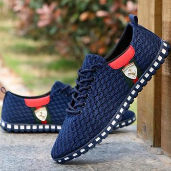网鞋男夏季透气运动鞋男士休闲网面鞋子男韩版老北京布鞋男鞋春季