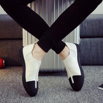 2017春季新款男鞋子帆布鞋男士休闲板鞋韩版潮流一脚蹬懒人鞋潮鞋