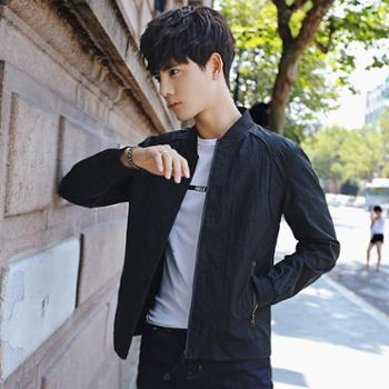 2017男士新款秋季修身夹克帅气韩版薄款日系夏季学生外套潮流衣服 JC