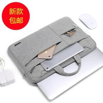苹果戴尔华硕12单肩14手提笔记本电脑包15.6内胆包17.3男女13.3寸小米华为macbook11pro15 air13公文包文件袋
