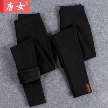 新款打底裤女外穿加厚加绒女裤子秋冬季小脚铅笔保暖棉裤高腰