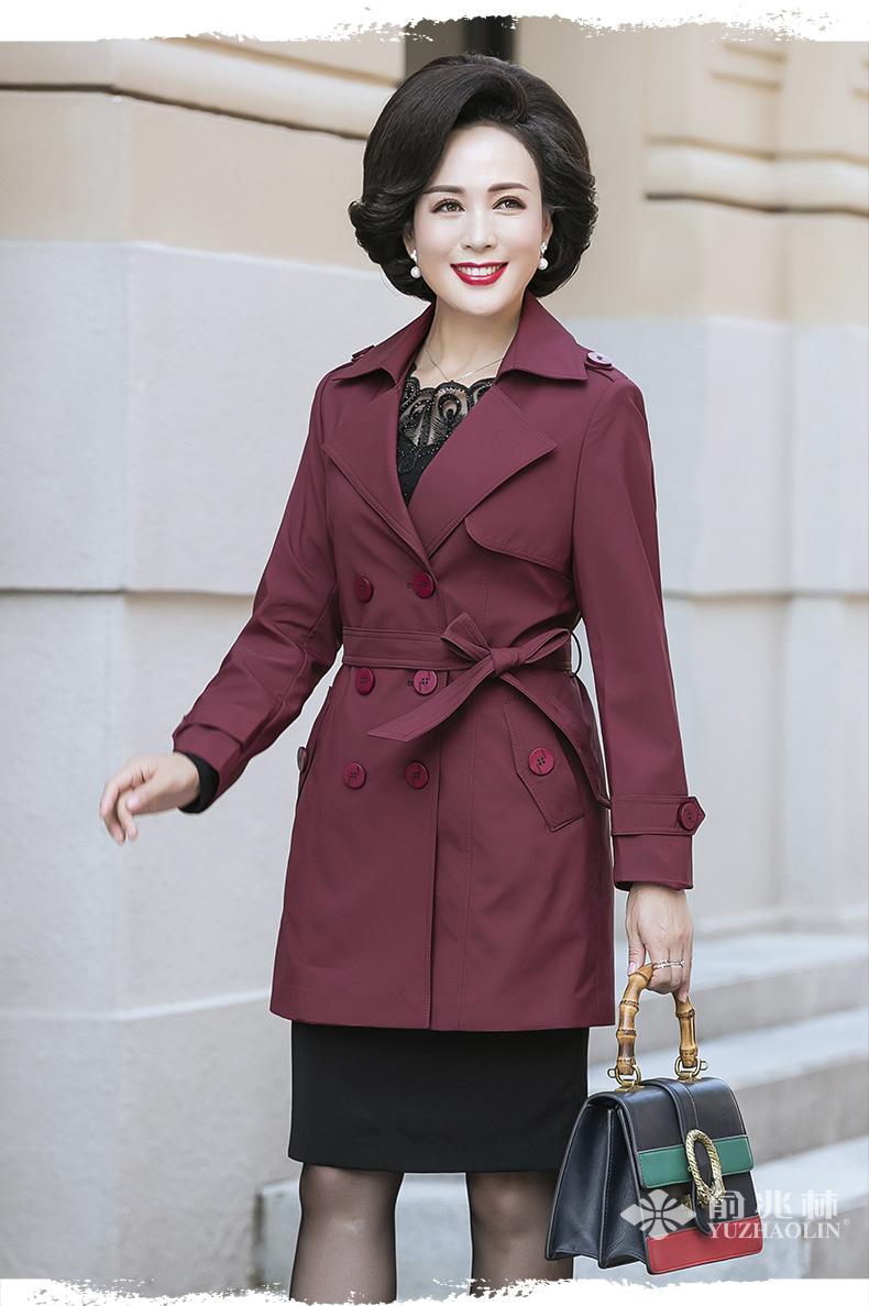 妈妈装休闲连帽卫衣秋装新款40-50岁中年女装套头衫短款外套