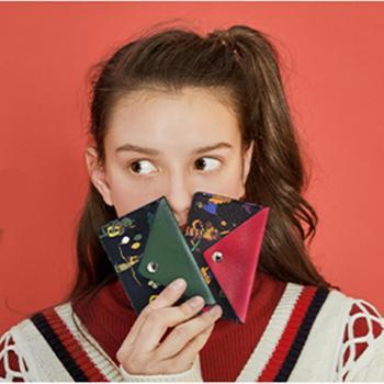 不莱玫卡包女小巧迷你超薄ins潮小零钱包公交卡套名片夹防盗刷