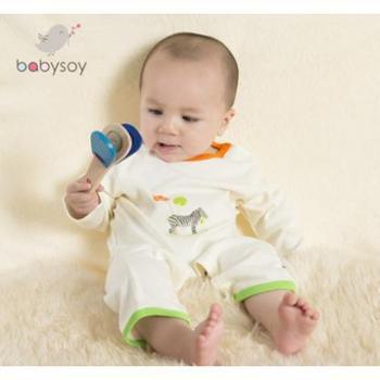 babysoy新款婴儿连体衣新生宝宝衣服男女秋冬装长袖爬服开裆哈衣
