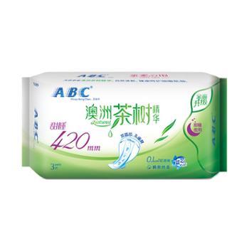 ABC卫生巾N89茶树精华超长甜睡夜用420mm*3片