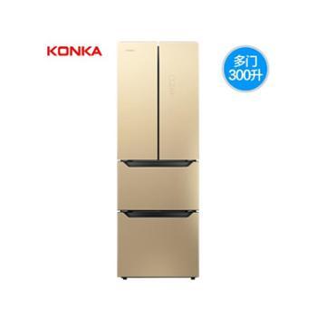 Konka/康佳BCD-300EGX4SU多门冰箱家用四门电冰箱法式多开门冰箱