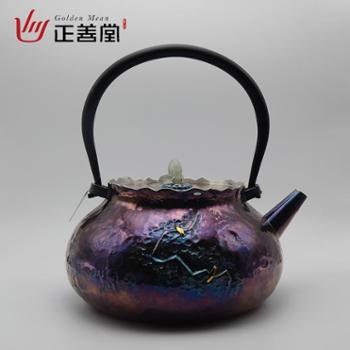 正善堂手工银壶银茶壶烧水壶煮茶壶银水壶泡茶壶送礼茶壶高端茶具玄古岁月