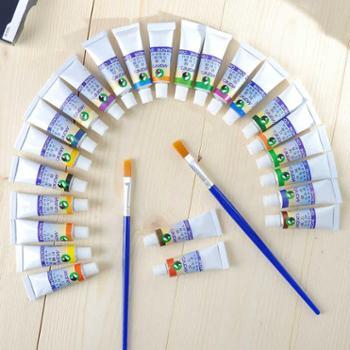 【宝鸡正昊贸易】马利水粉颜料单支5ML送2支画笔 24色水粉画颜料 学生美术绘画