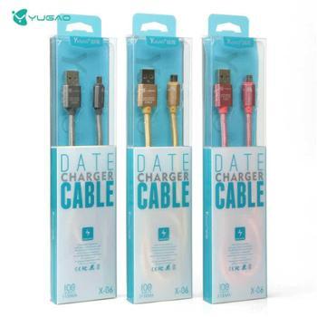 羽高苹果type-c充电线数据线加粗安卓苹果乐视手机高速充电线铝合金尼龙编织USB线
