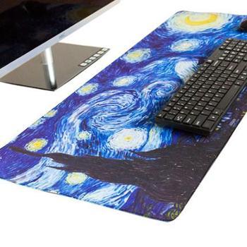 梦天大鼠标垫超大号键盘垫游戏动漫学生书桌垫可爱女生办公电脑垫