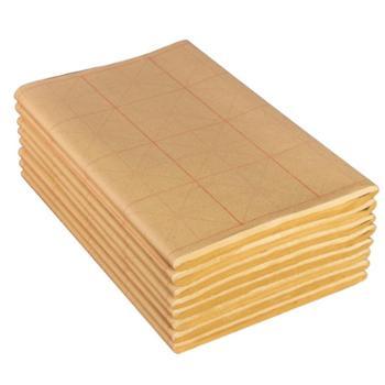 六品堂毛边纸米字格宣纸书法专用纸练字书法练习纸*练毛笔字字纸加厚手工元书纸半生半熟纸初学者专用书写