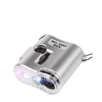 60倍放大镜带LED灯高显微镜清集邮珠宝茶叶烟邮票鉴定验钞便携式
