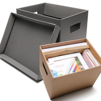 得力文件收纳盒收纳箱文件框文件盒资料盒会计凭证档案盒男女办公收纳框文件筐