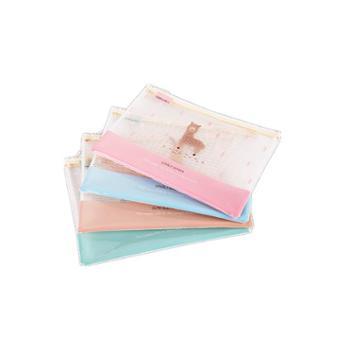得力5992系列网格拉链袋文件袋文件夹学生收纳袋单个装