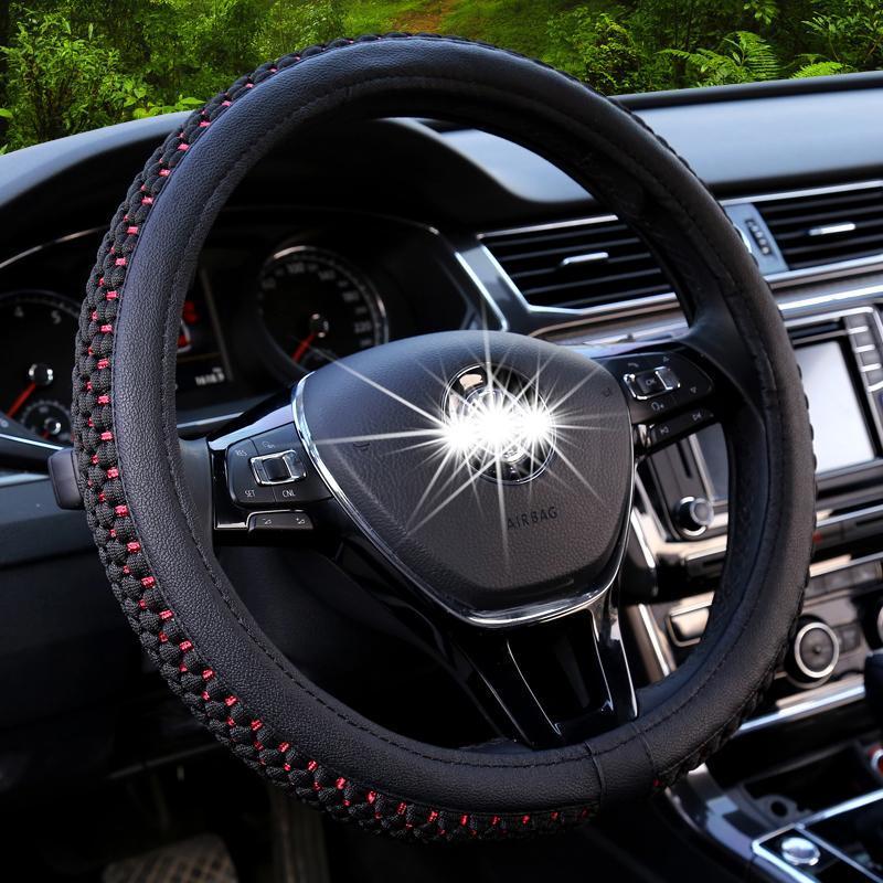 四季汽车方向盘套通用型夏季冰丝把套防滑吸汗轩逸大众速腾卡罗拉