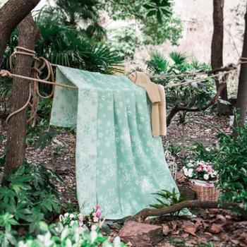 新款纯棉毛巾被 单双人成人全棉平含蕾访蕊毛巾被毛巾毯180cm*220cm