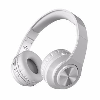 MICSHONW802头戴式重低音无线蓝牙音乐运动跑步耳机插卡MP3蓝牙耳机