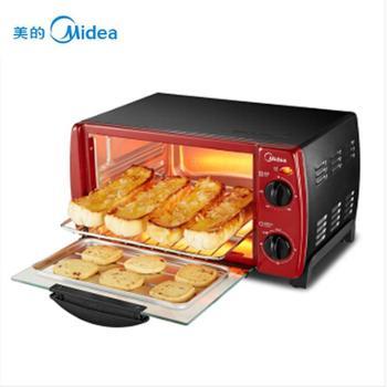 -美的(Midea)电烤箱家用多功能 迷你小烤箱 T1-102D 10L