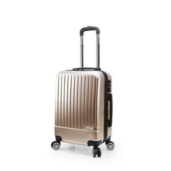 维仕蓝wissblue万向轮拉杆箱20寸登机箱男女行李箱时尚拉杆箱B717