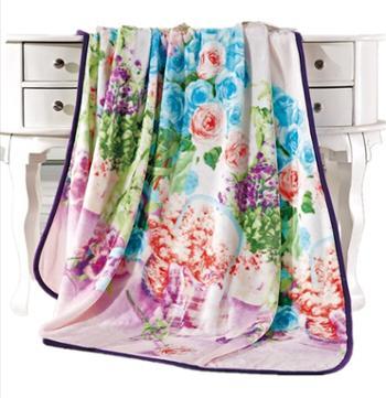 富安娜珊瑚绒毯-花香四溢