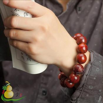 文路堂文玩 赞比亚血檀2.0cm佛珠手串手链20mm 廊坊特惠