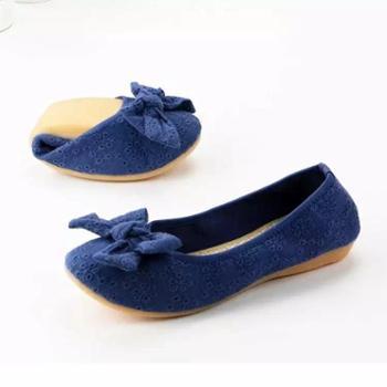 老北京布鞋超软蛋糕卷鞋女鞋单鞋一脚蹬懒人鞋