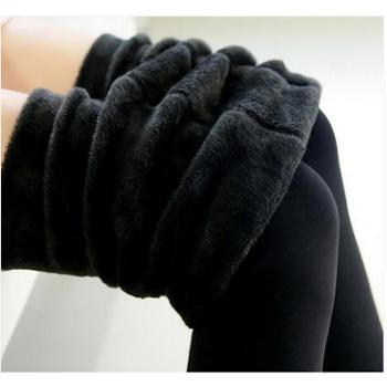 加绒加厚打底裤女士冬季外穿高腰显瘦保暖裤子一体裤秋款黑色长裤