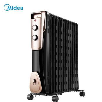 美的取暖器NY2011-16JW油汀家用升温电暖气暖气片11片电热制暖器