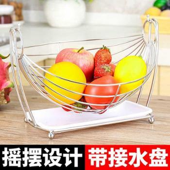 尚合不锈钢水果盘客厅创意家用现代茶几沥水果篮子果盆欧式果蓝干