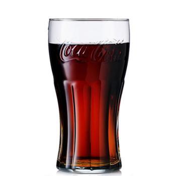 无铅可口可乐杯玻璃杯果汁杯啤酒杯透明色300ml