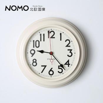 北欧国度铁艺金属钟表/静音机芯/美法式乡村圣安德鲁挂钟-红秒针
