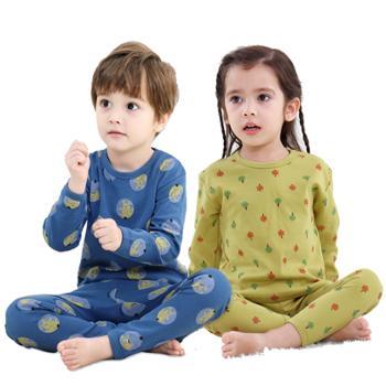 秋冬儿童内衣套装纯棉A类保暖男女童新款家居服童装睡衣卡通韩版