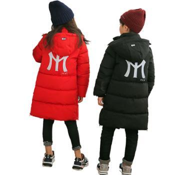 冬季加厚儿童棉服 中大童长款童装棉衣