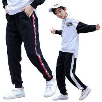 男童休闲裤棉质皮筋中腰中大童韩版运动裤子