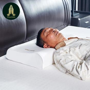 塔拉蒂安(TharaThian) 泰国进口天然乳胶枕头 96.8%乳胶含量 波浪曲线型枕芯 单只装 厚款