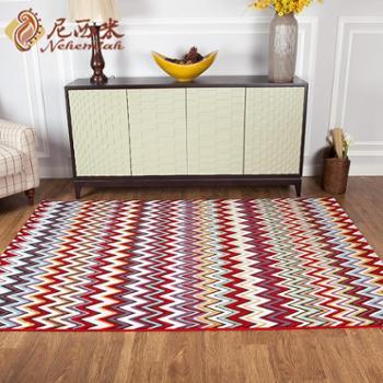 进口民族风情地毯 特色客厅地毯 卧室床边地毯 欧式沙发茶几垫2*2.9m