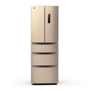 格力 晶弘多门冰箱 变频325L风冷无霜 -5℃瞬冻科技 BCD-325WPQC 摩卡金色