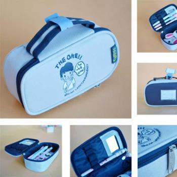 【628搜实惠】知音文创 金音Jean card 学习用品 凯西创意 帆布笔盒 内置小镜2494201-202