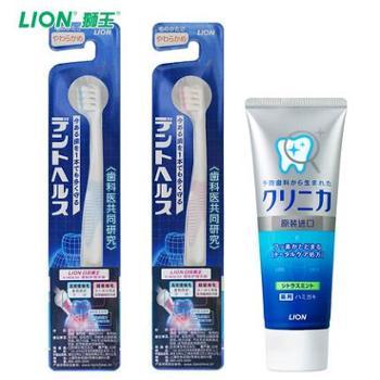 LION/狮王 进口超软护理月子牙刷2支酵素洁净防护牙膏孕妇适用装