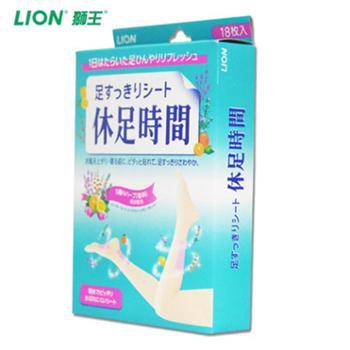 【原装进口】LION/狮王 休足时间按摩倍爽足贴*18片装