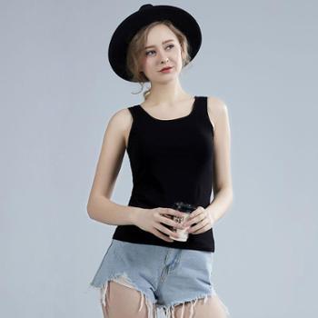 纯棉吊带背心工字韩版修身外穿无袖女夏短款打底衫内搭性感上衣B001