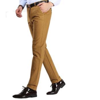 秋冬季男士磨毛直筒裤及抗皱薄款休闲西裤