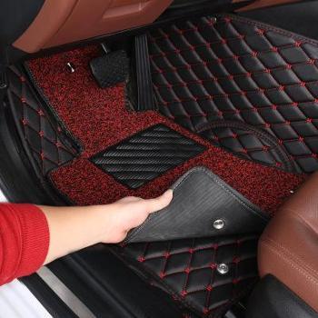 专车专用汽车脚垫全包围丝圈绗绣大包围脚垫