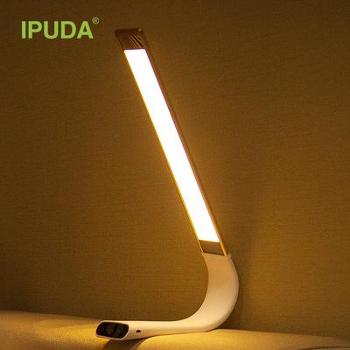艾普达IPUDA面光源护眼灯床头台灯/月光灯/LED充电学生宿舍台灯工作卧室阅读台灯星光银10cm