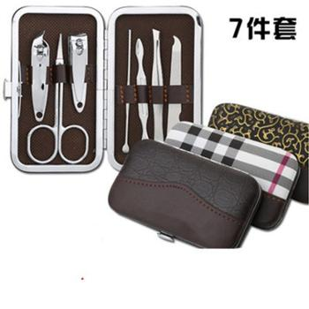 不锈钢指甲剪7件套装指甲刀美容工具套装指甲钳