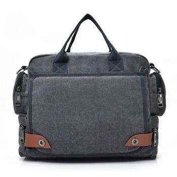 帆布手提包笔记本单肩包电脑包旅行户外包(高29cm*长35cm*厚13cm)