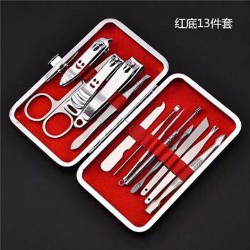 不锈钢指甲剪套装12件套美容套装指甲刀美甲剪修甲钳*